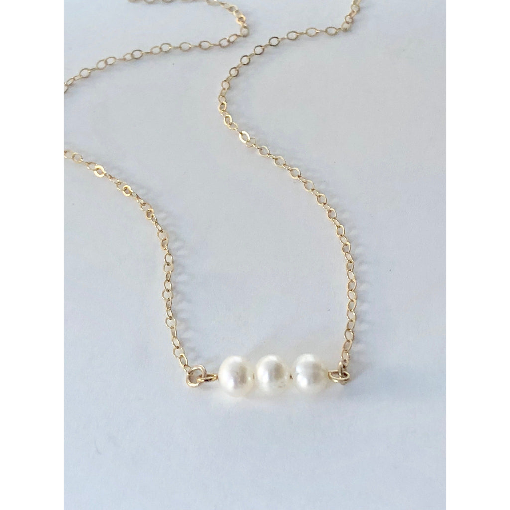 Bridesmaid Pearl Necklace and Bracelet Set - Deluxur Jewellery