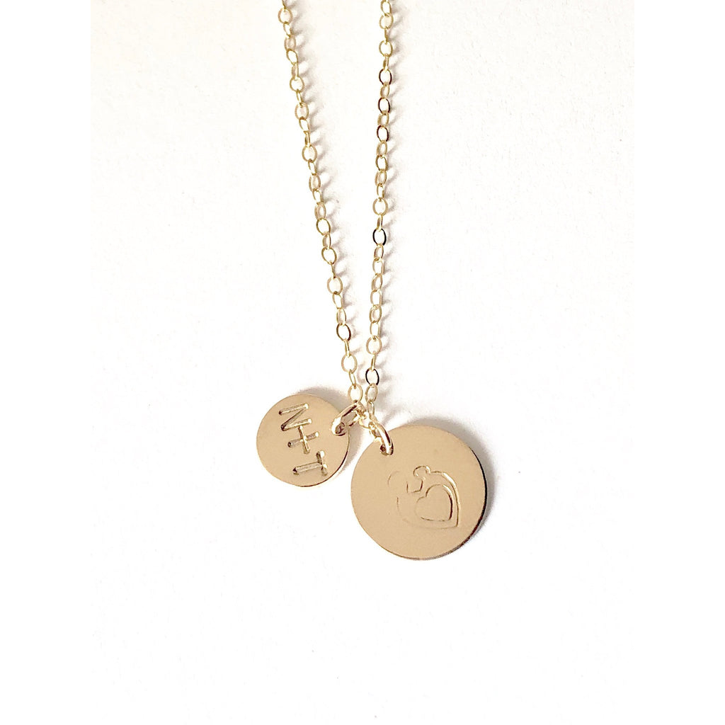 Mum And Baby Necklace - Deluxur Jewellery
