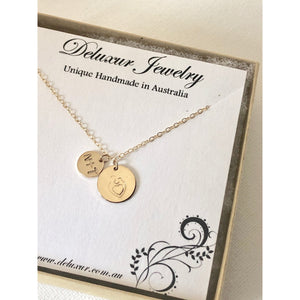Mum And Baby Necklace-Deluxur