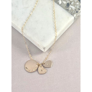 Sofie Heart Necklace-Deluxur