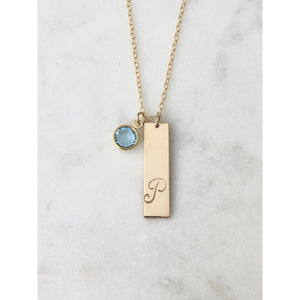 Personalised Birthstone Bar Necklace