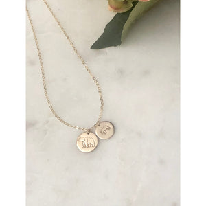Mama And Baby Bear Necklace-Deluxur