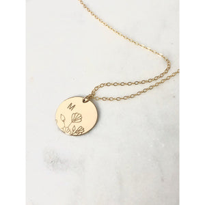 Personalised Wildflower Bouquet Necklace-Deluxur