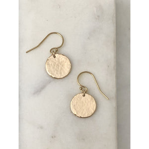 Personalised Hammered Earrings-Deluxur