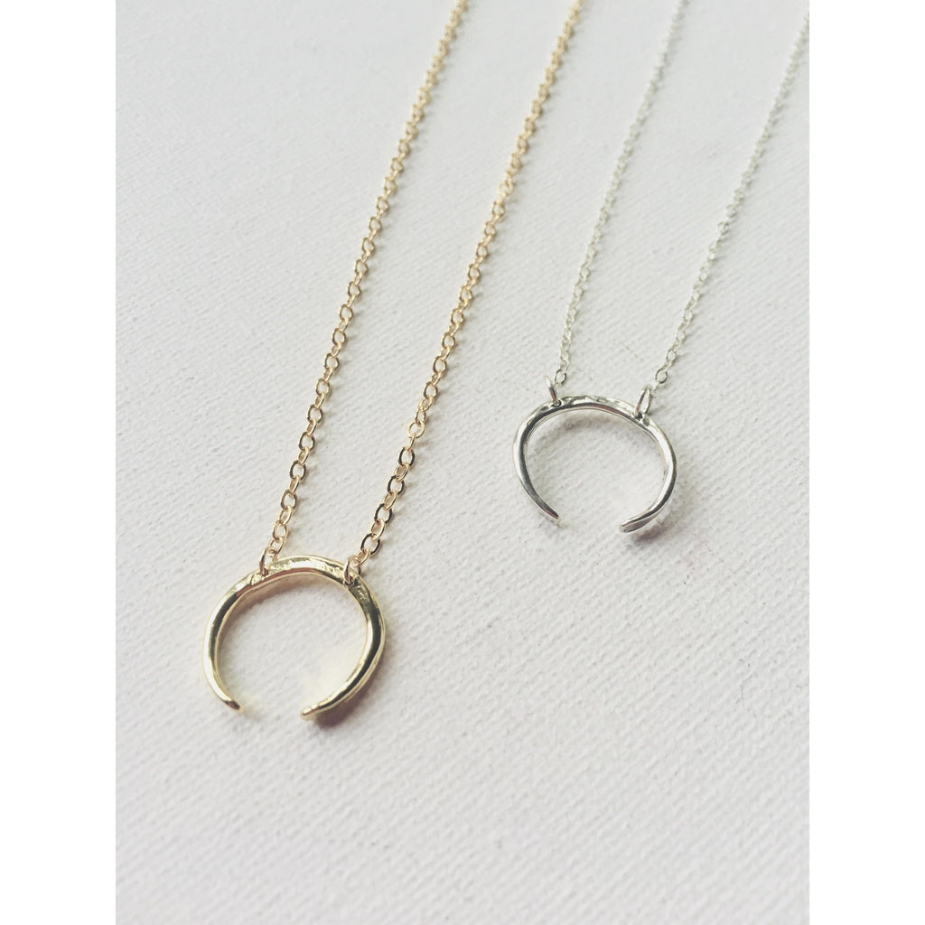 Crescent Moon Necklace - Deluxur Jewellery