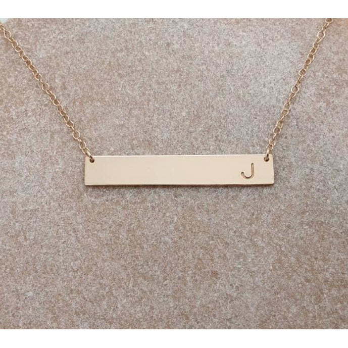 Minimal BAR Necklace-Deluxur