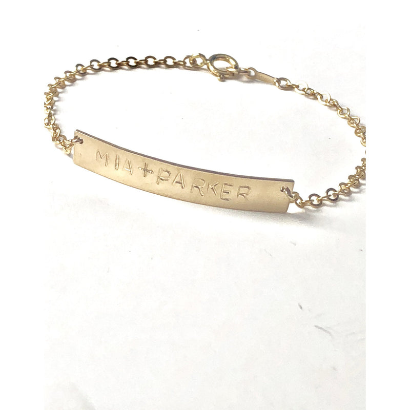 Personalised Bar Bracelet-Deluxur