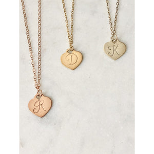 Personalised Heart Necklace-Deluxur