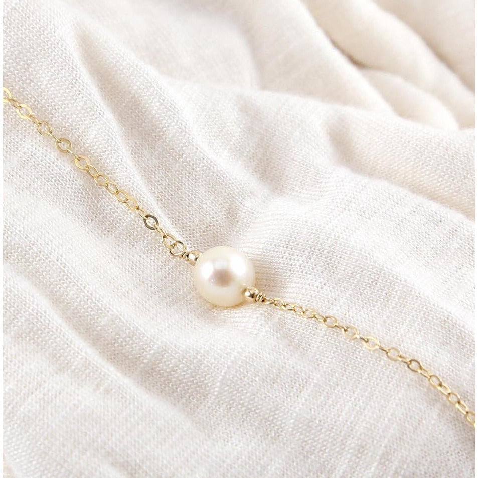 claire pearl choker necklace