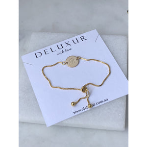 Personalised Adjustable Initial Bracelet-Deluxur