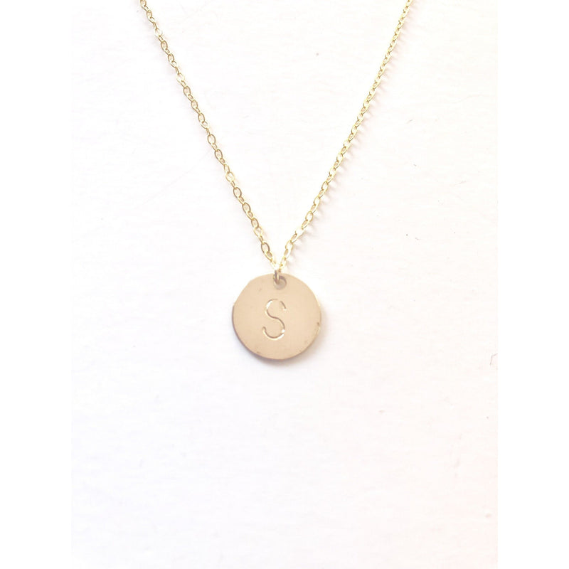 Sophia Large Initial Disc Necklace-Deluxur