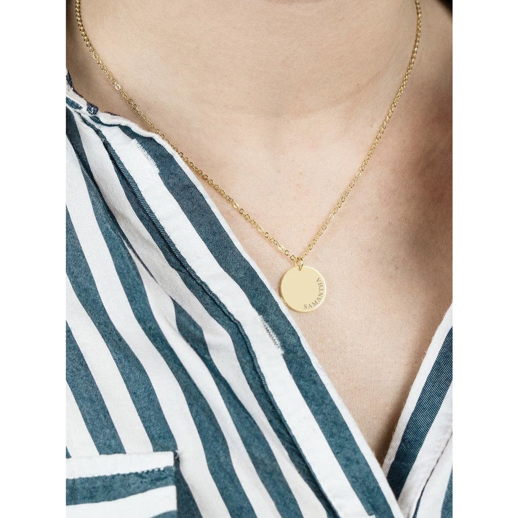 Kylie Curved Necklace-Deluxur