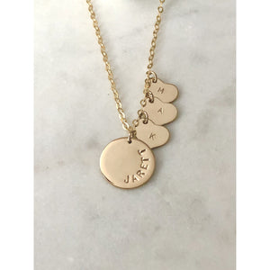 Sofie Heart Personalised Necklace-Deluxur