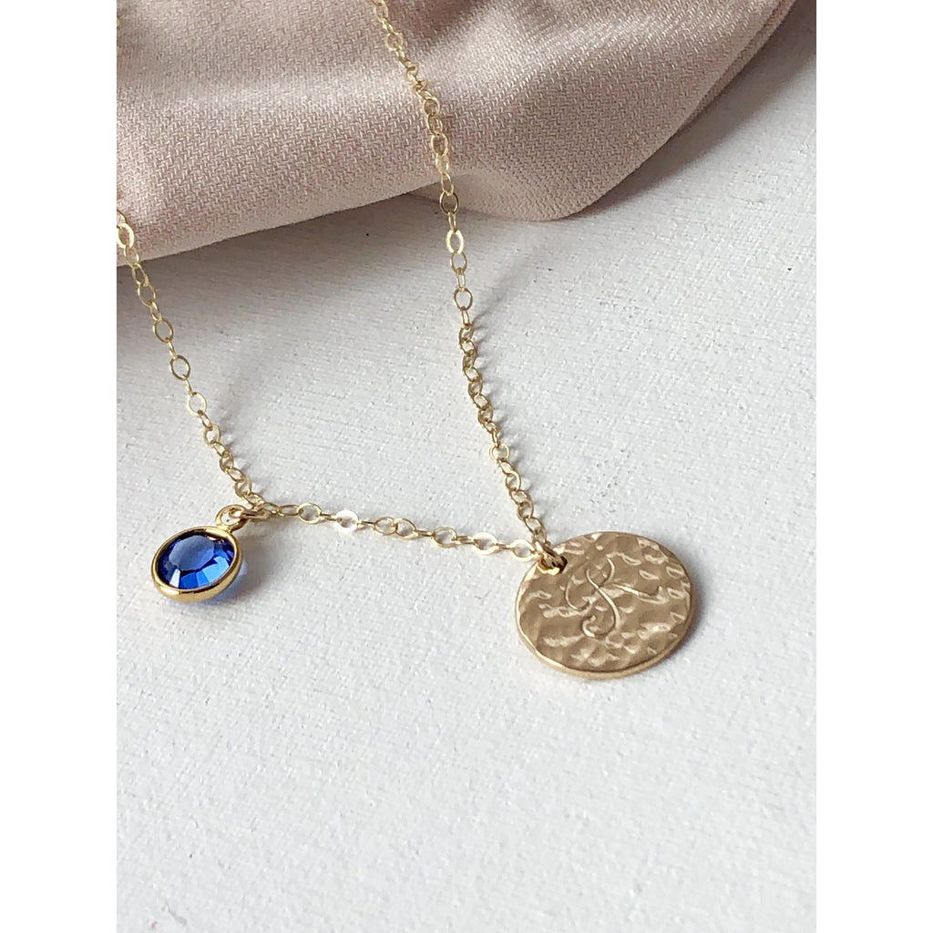 Roxie Initial Necklace-Deluxur