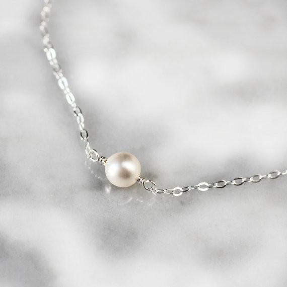 Claire - Pearl Choker Necklace - Deluxur Jewellery