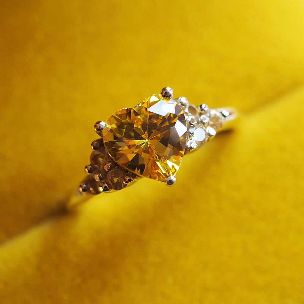 Heart of Gold Yellow Sapphire Ring