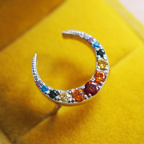 Rainbow Moon Ring