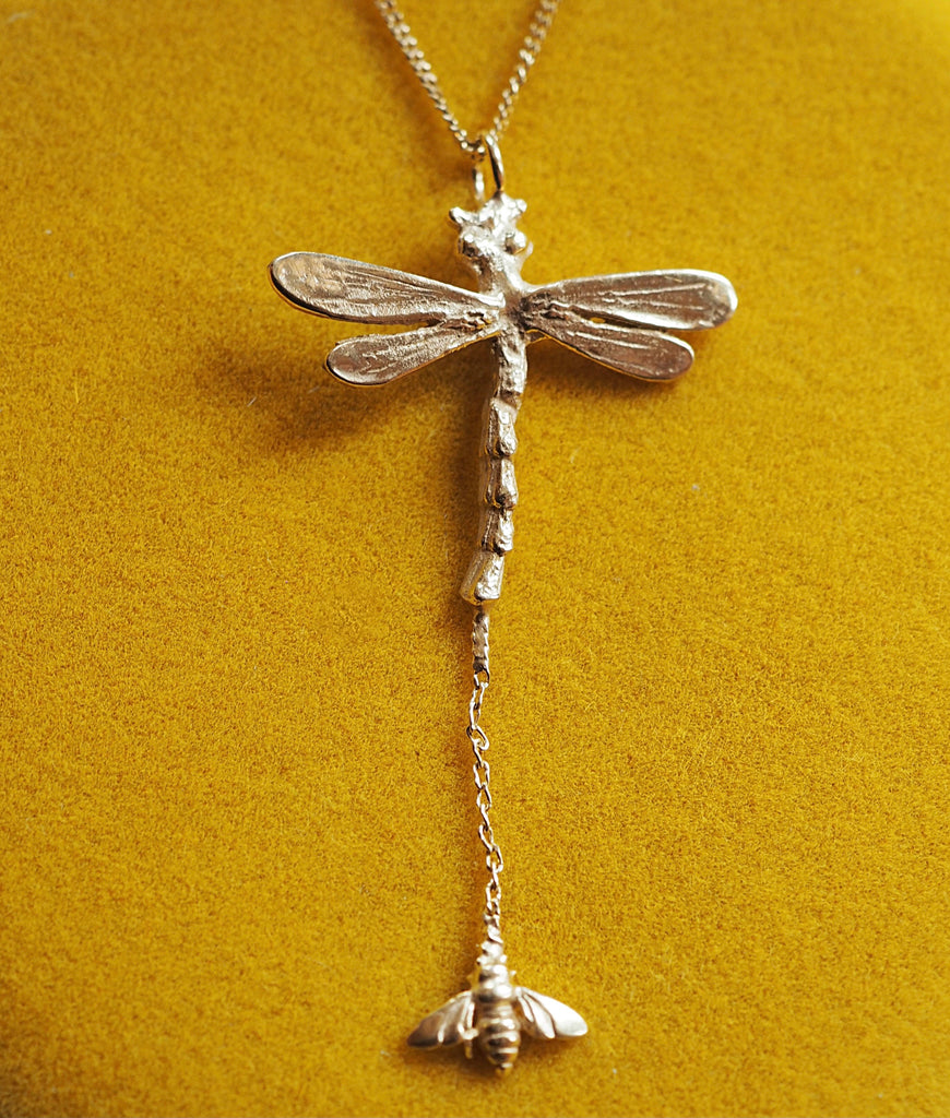 Dragonfly & Bee Necklace