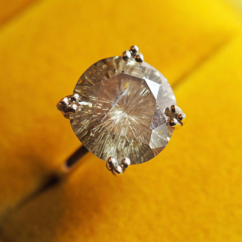 Natural Champagne Moissanite Ring