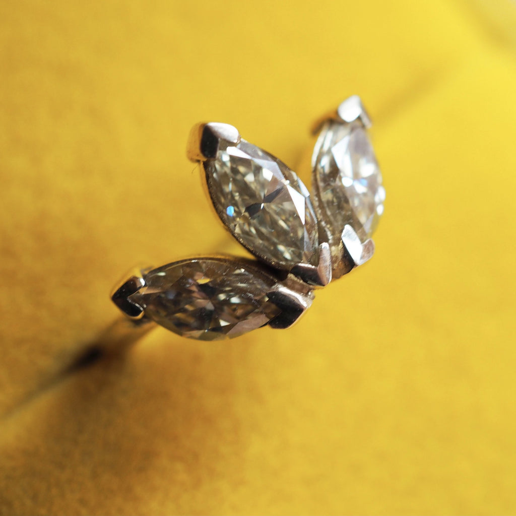Sun Ray Marquise Ring