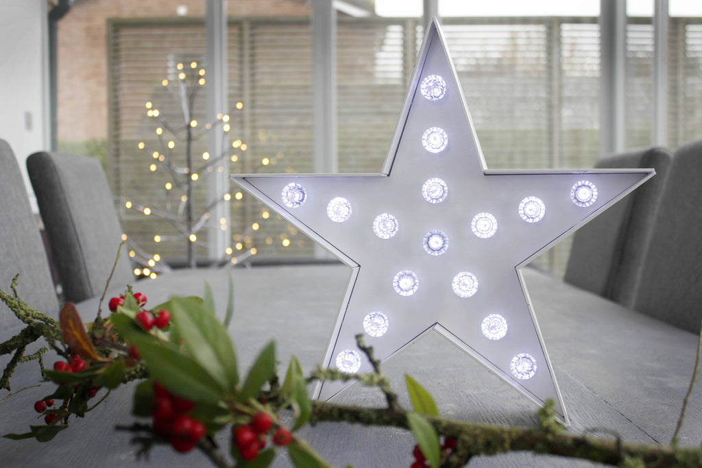 Light Up Timber Star