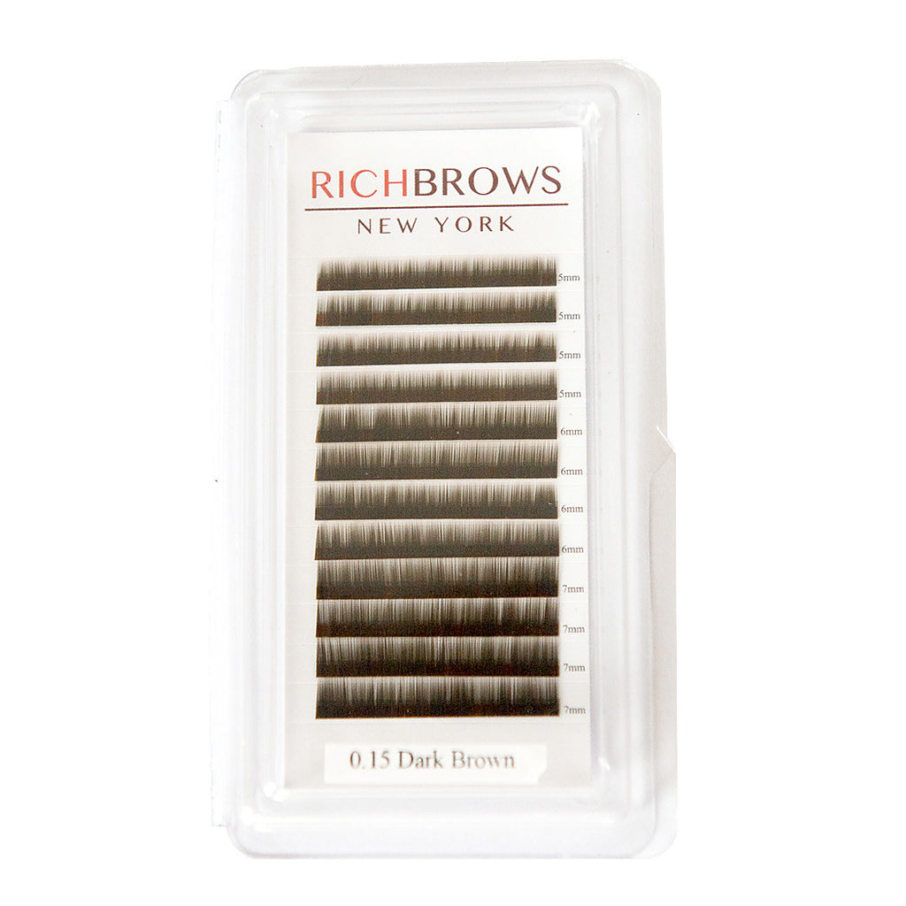 EYEBROW EXTENSIONS TRAY - COLOR: DARK BROWN