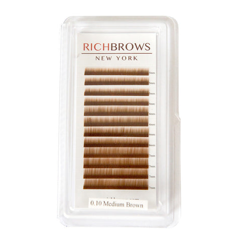 EYEBROW EXTENSIONS TRAY - COLOR: MEDIUM BROWN