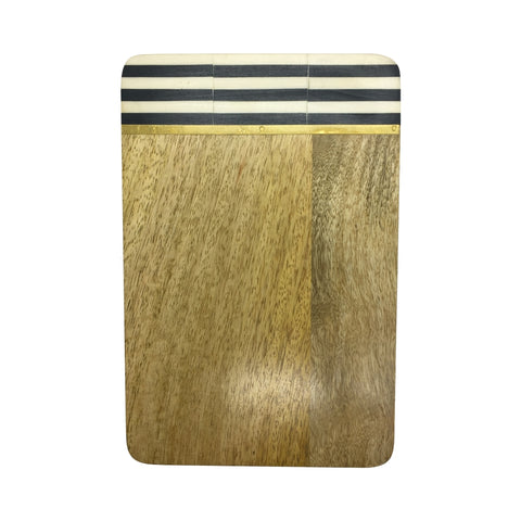 Mango Wood Serving Board Stripes Large
