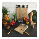 Mango Wood Serving Board Leaves Large