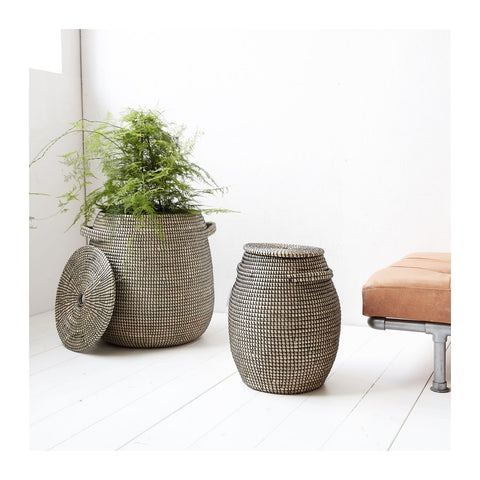 Basket Seagrass Natural / Black