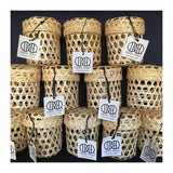 Hand Woven Bamboo Basket with Lid