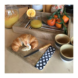 Mango Wood Tray Stripes Medium