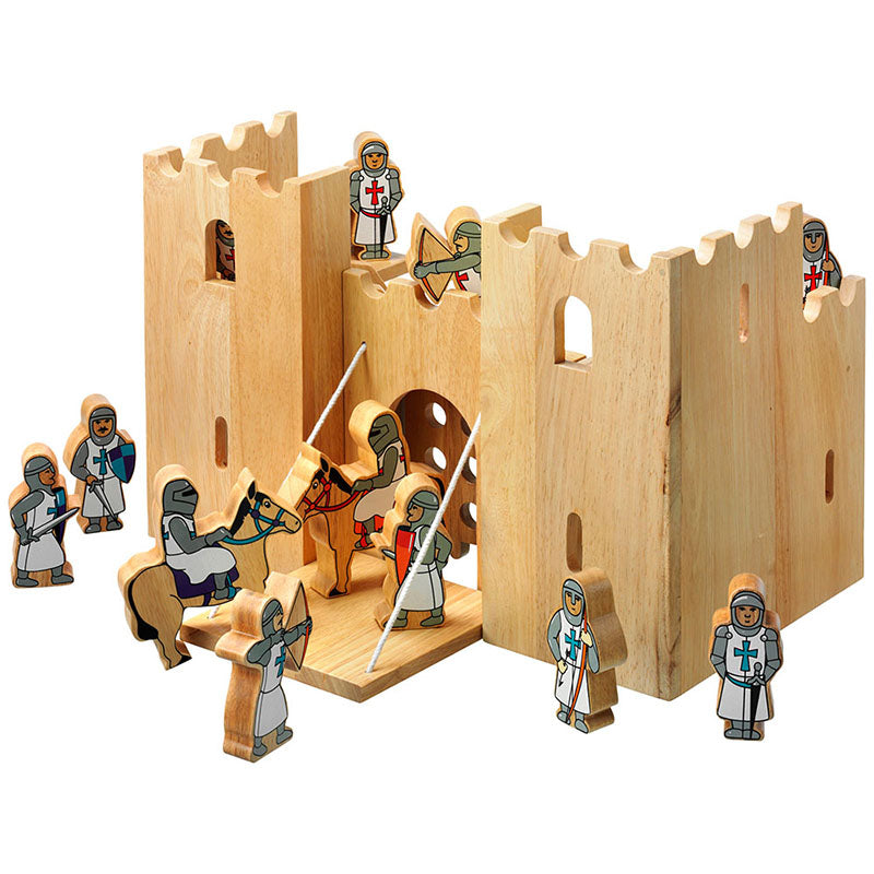Wooden Castle with Knights