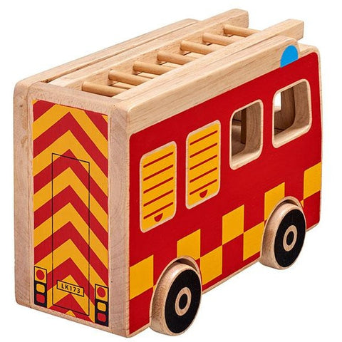Wooden fair trade Fire Engine