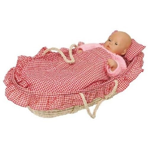 Wicker baby doll carry cradle/ bed - Amy's Attic - 1