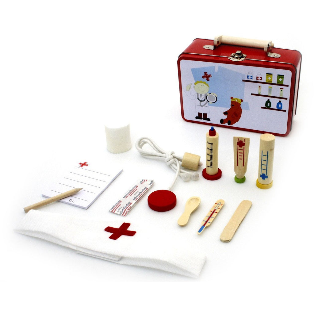 Children's doctor's dressing up box