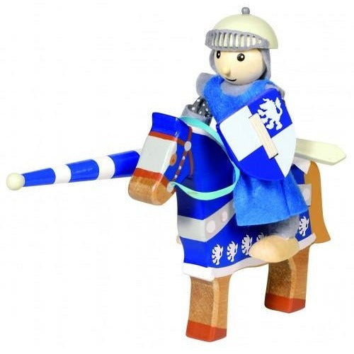 Flexible wooden Knight on wooden horse - Amy's Attic