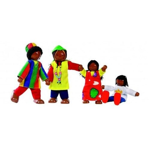 Flexible dolls African family