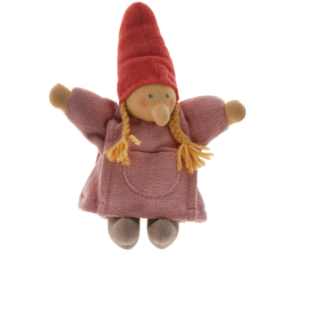 Mama Gnome Waldorf Doll hand made with 100% organic materials