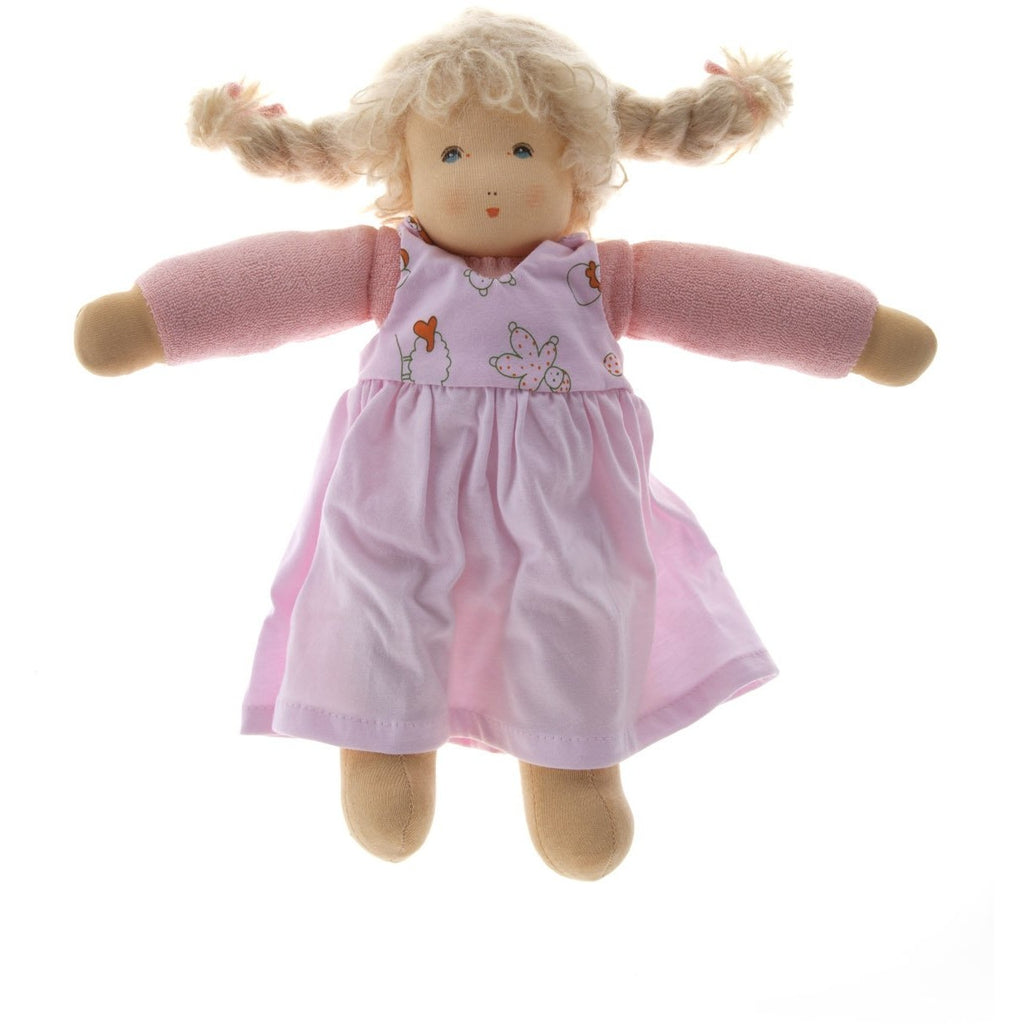 Marie-chen organic waldorf doll hand made using organic materials