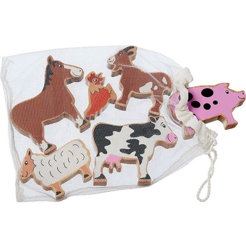 Fair trade farm yard animals in a bag