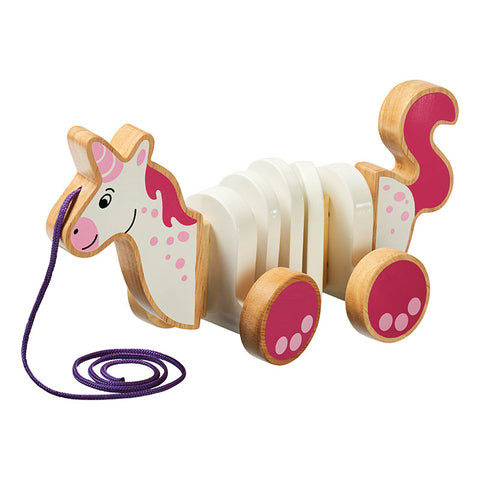 Wooden Unicorn Pull Along Toy