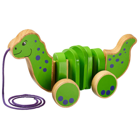 Wooden Dinosaur Pull Along Toy