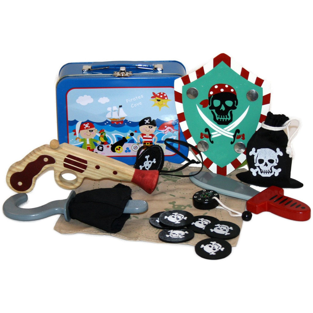 Pirate dressing up kit in case