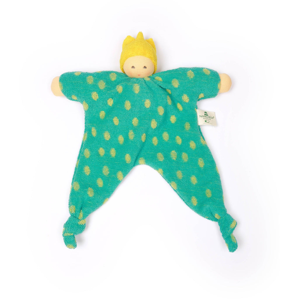 Spotty Punk Prince/Princess baby comforter - turquoise