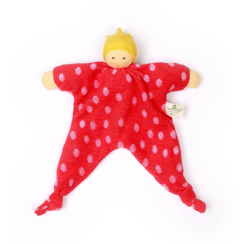 Red spotty punk Prince/Princess baby comforter
