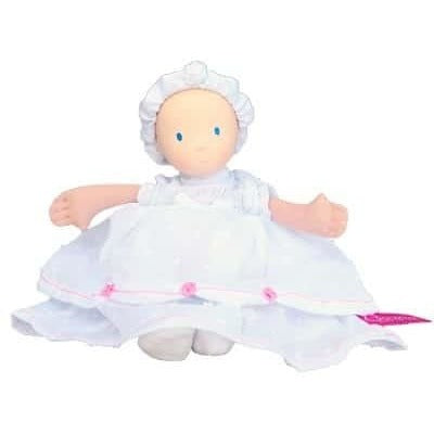 Baby Ruby doll in Christening dress