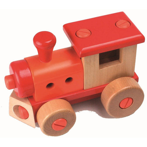 Wooden build it yourself train engine kit
