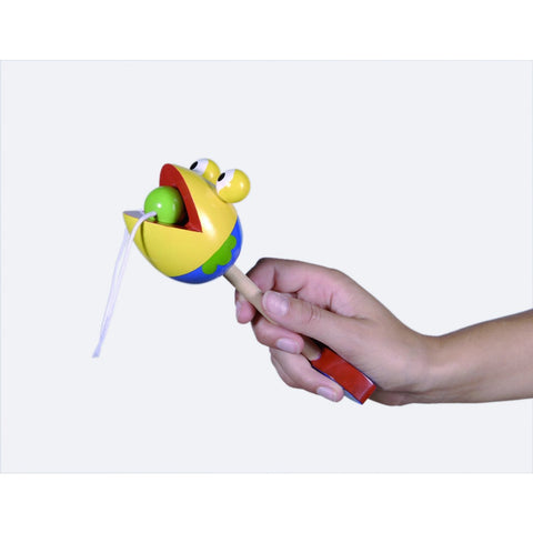 Wooden catch the ball toy