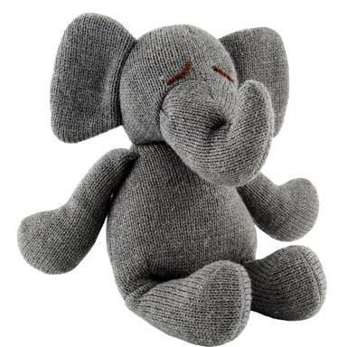 Cuddly grey elephant soft toy